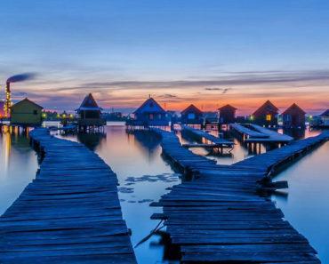 Las increíbles casas flotantes del lago Bokodi, Hungría