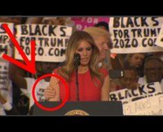 El gesto de Melania Trump luego de que Donald le tocara el brazo