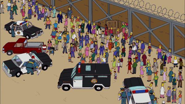 """¿Habían predicho """"Los Simpson"""" el muro de Trump?"""