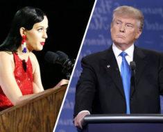 Así fue como Katy Perry protesto en contra del muro de Donald Trump