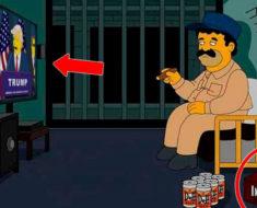 Los Simpson predijeron un nuevo escape para el Chapo Guzmán