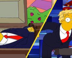 La muerte de Donald Trump. La predicción más escalofriante de Los Simpson