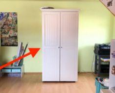Se ve como un armario común y corriente, pero su interior es maravilloso