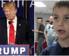 """""""Trump no debería hacer todo eso"""": el niño de 7 años que enfrentó a un senador de Estados Unidos"""