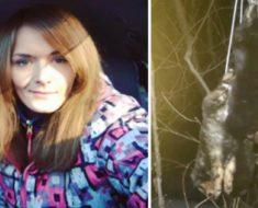 Lo que esta chica encontró colgando de un árbol, ¡Te romperá el corazón!