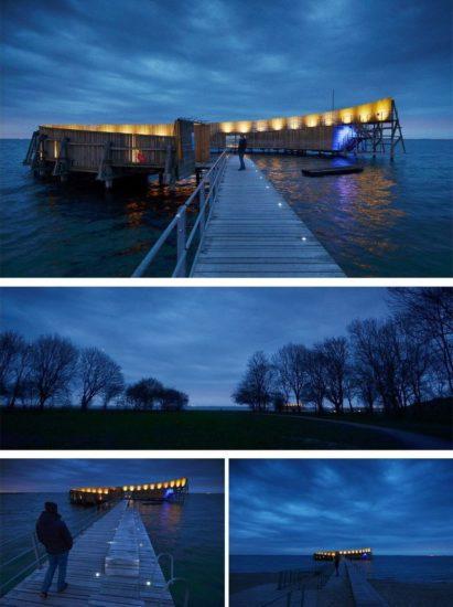 Kastrup, una piscina / alberca al aire libre en medio del mar