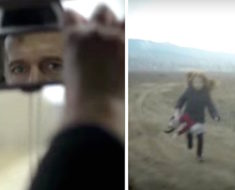 Un padre deja a su hija en la carretera y cuando mira por la retrovisor ve algo terrible