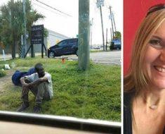 Este hombre estuvo sentado en el mismo lugar por 3 años, hasta que una mujer se detuvo a preguntarle por qué