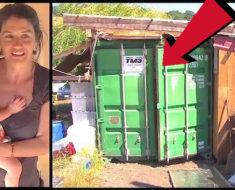 Todos la creían loca por vivir en un contenedor, pero luego se quedaron callados al verlo por dentro