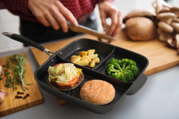 Con este sartén podrás cocinar una comida completa en el mismo lugar