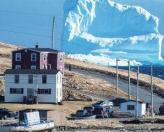 Una mañana, la gente de este pueblo despertó y vio un iceberg frente a sus casas