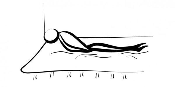 yoga para dormir postura pez