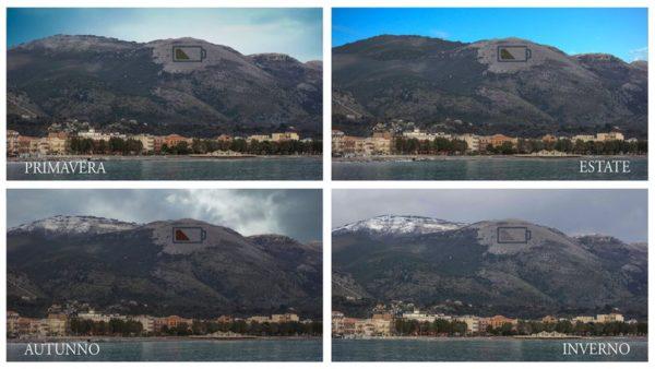 Artista utiliza 5000 árboles para hacer una obra de arte en medio de la montaña