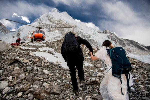 Una pareja se casó en el Everest
