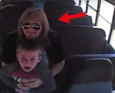 La cámara de este camión escolar grabo algo horrible. Lo que hizo esta mujer salvó la vida de un pequeño