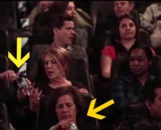 Les regalaron botellas de agua en el cine, pero la sorpresa llegó al no poderlas abrir…