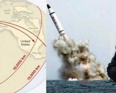 Revelan los mapas que muestran qué países serían alcanzados por los misiles de Corea del Norte…