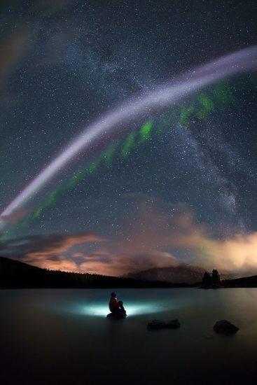 """No es una aurora boreal, es """"Steve"""" un fascinante nuevo fenómeno natural"""