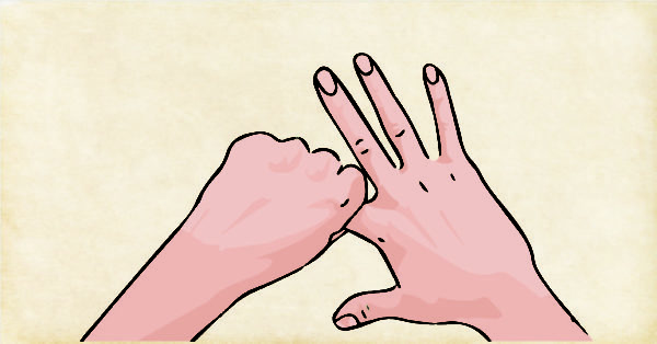 Rodear el dedo índice