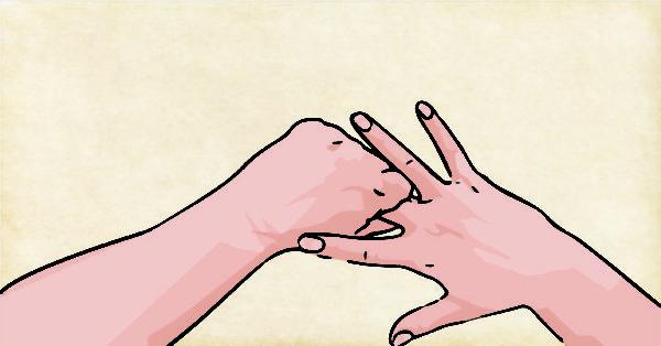 Rodear el dedo medio