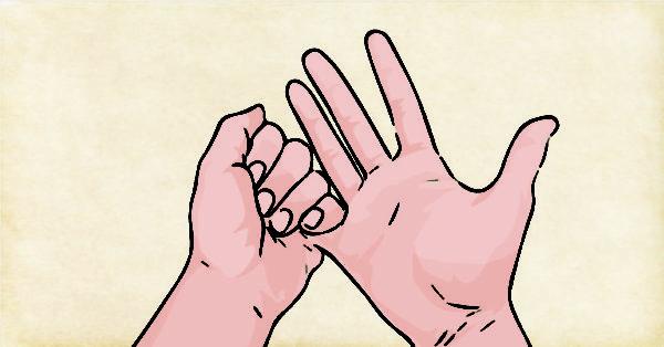 Rodear el dedo meñique