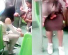 Esta joven se quitó sus zapatos en el metro para regalárselos a una indígena