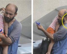 Este hombre vendía bolígrafos para mantener a su hija, hasta que alguien le tomó una foto y todo cambió