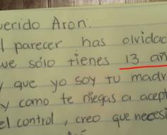 Madre se cansa de su hijo desobediente, su increíble carta se volvió viral por Internet