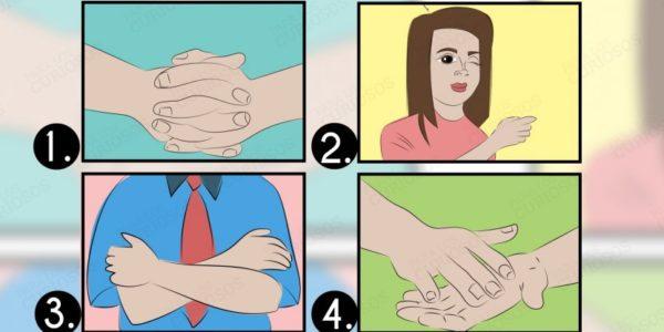 Test corporal: 4 movimientos de tu cuerpo que revelan mucho más de tu personalidad de lo que crees