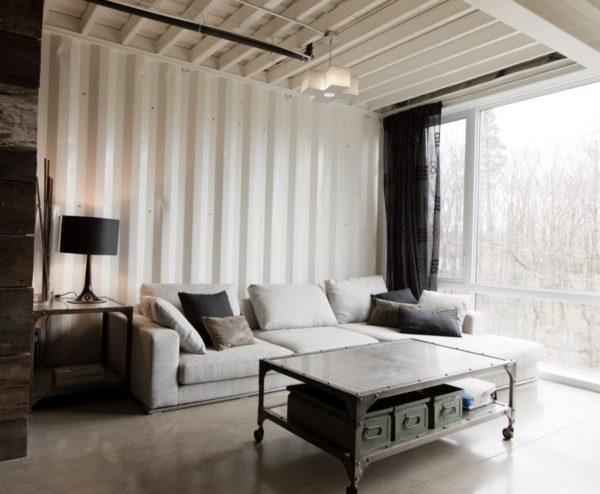 Transformaron 3 contenedores en la casa ecológica ideal