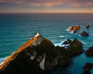 El faro de Nugget Point   Un pequeño paraíso en Otago, Nueva Zelanda