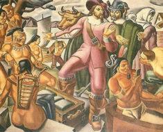 Alguien descubrió un iPhone en esta pintura colonial de hace décadas