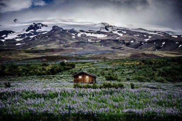 Retiro de la montaña Meadow, Islandia