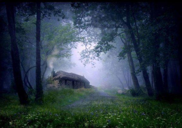 Cabaña en el bosque, Escocia