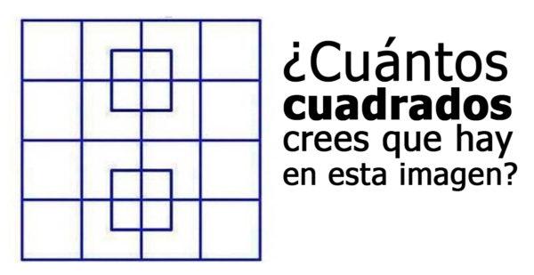 ¿Cuantos cuadrados hay en esta imagen?