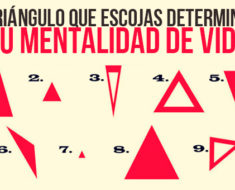Elige un triángulo y mira que es lo que dice acerca de tu forma de vivir la vida