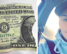 Encontró la mitad de un billete con un mensaje, 10 años después se revela el misterio