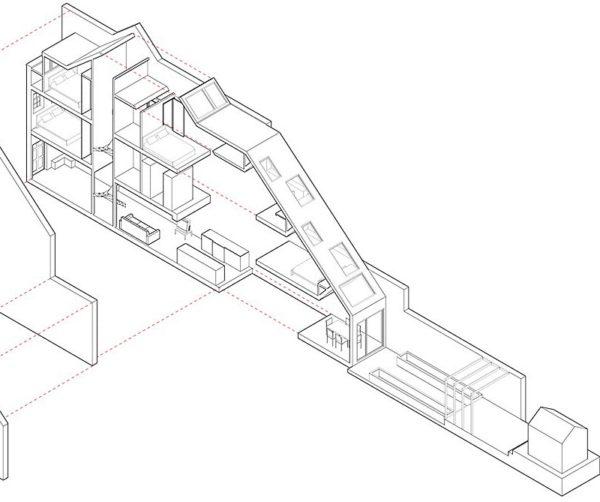 Es una casa de solo 2,3 metros de ancho. Pero te soprenderás, si miras adentro…