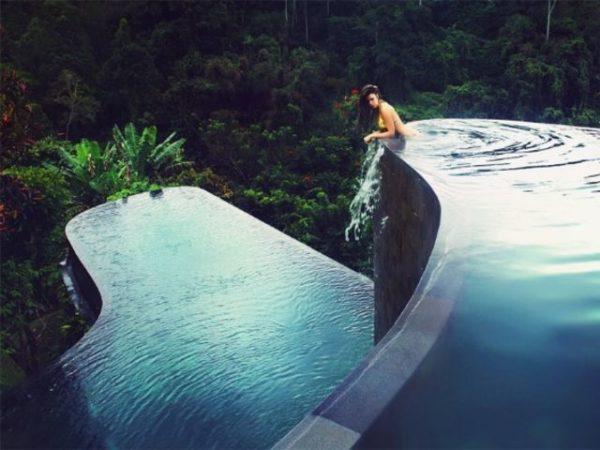 Piscinas colgantes del Ubud Hanging Gardens Hotel