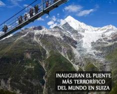 Suiza inaugura el puente colgante peatonal más largo del mundo