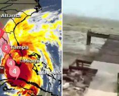 Impactante vídeo una playa de las Bahamas sin agua por el paso del huracán Irma