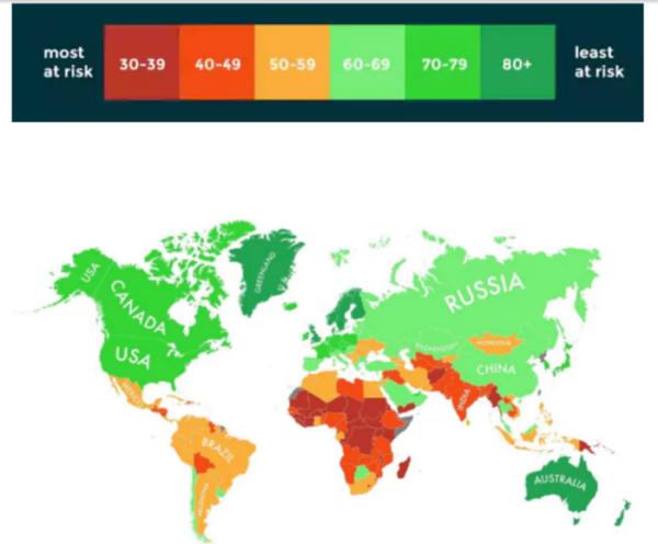 Los expertos revelan una lista de los países que podrán sobrevivir al cambio climático