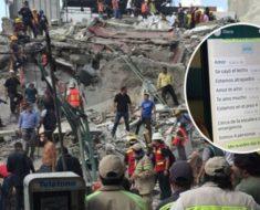 Cuatro personas estuvieron bajo los escombros por 17 horas y una conversación de Whatsapp pudieron salvarse
