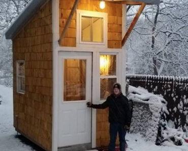 Chico de 13 años construye su propia casa. Mira esta obra maestra de 9 m2
