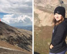 Después de escuchar ladridos en la montaña, esta chica hizo un descubrimiento increíble