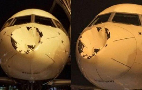 (Fotos) Un avión con jugadores de la NBA, chocó de frente contra un ovni