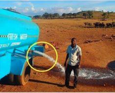 Hombre conduce durante horas con 11 millones de litros de agua – pero ahora mira cuando deja salir el agua
