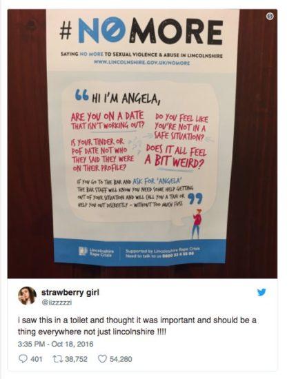 Dueño de bar cuelga cartel en el baño de mujeres – ahora su revolucionario mensaje se viraliza