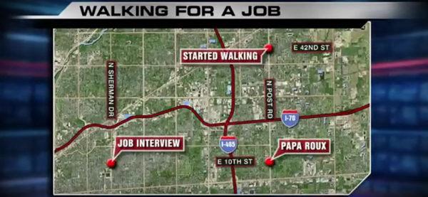 Joven de 18 años camina 3 kilómetros en la tormenta de nieve para una entrevista de trabajo. Pero algo pasó en el camino que cambia su vida