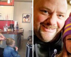Padre soltero no logra peinar a su hija – entonces va a clases de peluquería y hace cosas increíbles